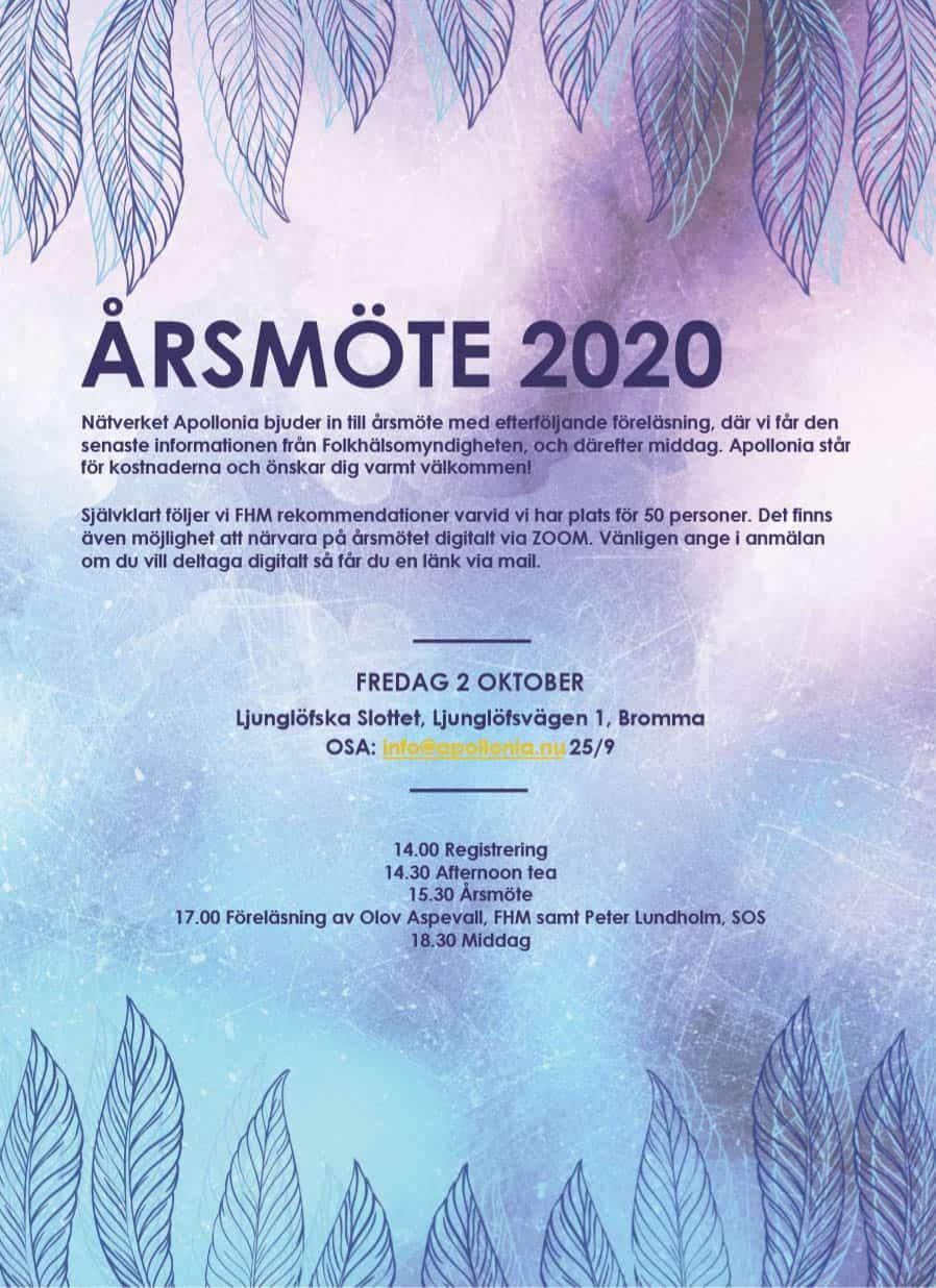 Apollonias årsmöte 2020